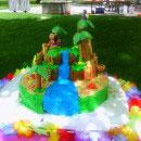 Hawaiian Luau Scene Birthday Cakes