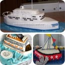 Boats and Ships Birthday Cakes