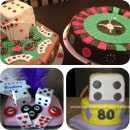 Casino/Vegas/Gambling Birthday Cakes