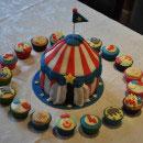 Circus Tent Birthday Cakes