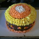 Candy Corn Birthday Cakes