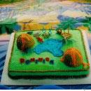 Jurassic Scene Birthday Cakes