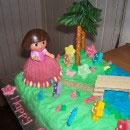Dora the Explorer Scene Birthday Cakes