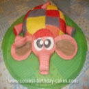 Elmer the Patchwork Elephant Birthday Cakes