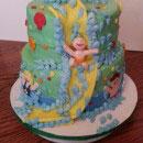 Waterslide Pool-shaped Cakes