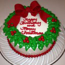 Wreath Christmas Cake Ideas