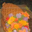 Cornucopias Thanksgiving Cakes