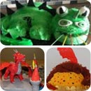 Dragon Birthday Cakes