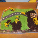 Construction Scene Birthday Cakes
