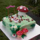 Mushroom and Toadstool Birthday Cakes