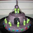 UFO Birthday SciFi cakes