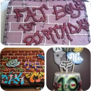 Graffiti Birthday Cakes