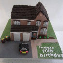 House/Cabin Birthday Cakes