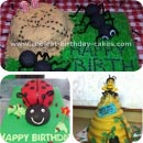 Insect Birthday Cakes