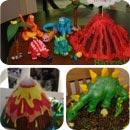Jurassic Birthday Cakes