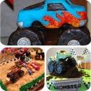 Monster Truck Birthday Cakes