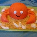 Crab Birthday Cakes