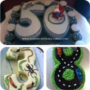 Numbers Birthday Cakes