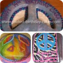 Peace Sign Birthday Cakes
