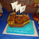 Pirate Ship/Island/Scene Birthday Cakes