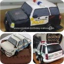 Police Car Birthday Cakes