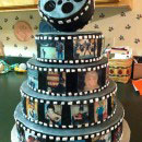 Movie Cameras and Reels Birthday Cakes