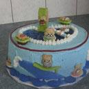 Pool Scene Birthday Cakes