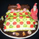 Christmas and Snow Scene Christmas Cake Ideas