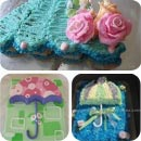 Umbrella Birthday Cakes