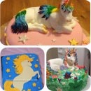 Unicorns Theme Birthday Cakes