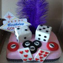 Poker and Cards Birthday Cakes