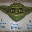 Yoda Star War Theme Cakes