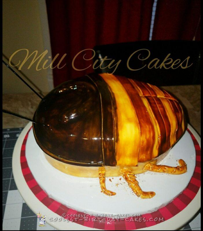 April fools Madagascar Hissing roach cake