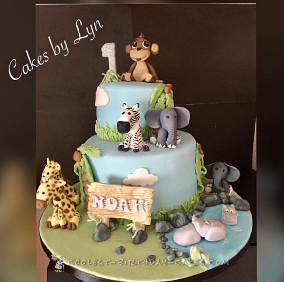 Coolest jungle cake