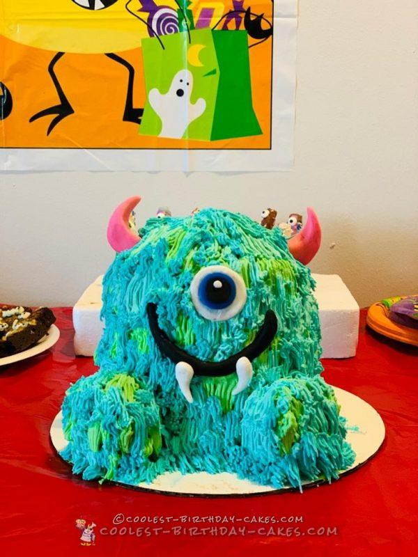 Strange Coolest Homemade Monsters Inc Cakes Personalised Birthday Cards Veneteletsinfo