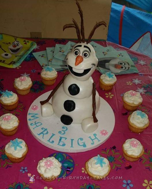 Fantastic Coolest Homemade Frozen Film Cakes Funny Birthday Cards Online Elaedamsfinfo