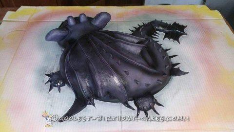 Amazing Toothless Cake from How to Train Your Dragon
