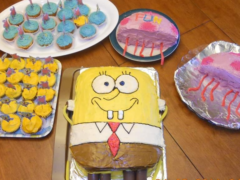 Sponge Bob Square Pants and jelly fish cakes