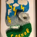 Awesome F5 Tornado cake for 5 yr old weather enthusiast!