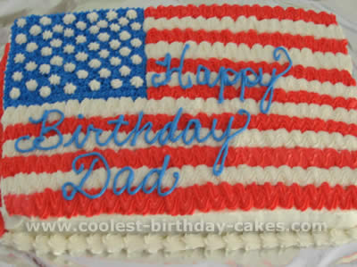 Flag Shaped 4th Of July Cakes