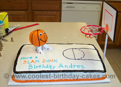Basketball Birthday Cake Picture