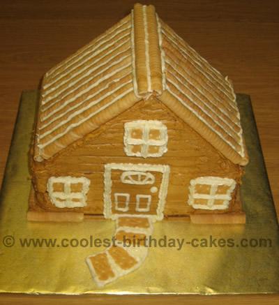 Log Cabin House Cake Photo