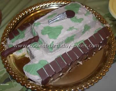 Tank Birthday Cake Picture