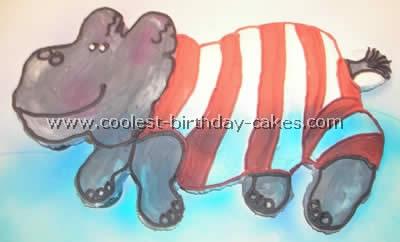 Hippo Birthday Cake Design