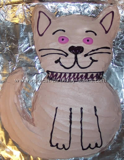 Cat Birthday Cake Picture