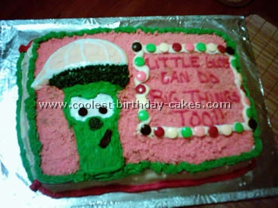 Larry Boy Childrens Cake Photo