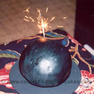 Anna's Bomb Cake for a Spy Birthday Party
