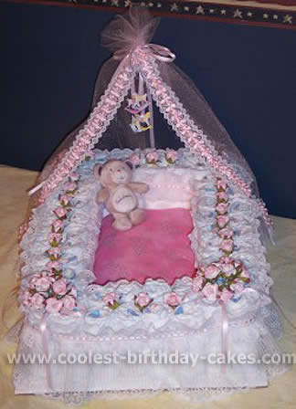 Diaper Bassinet Cake How To Make