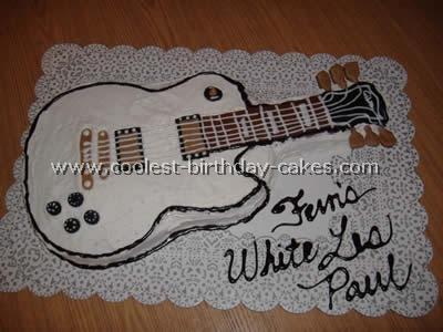 How To Make A Guitar Birthday Cake