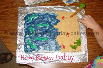 Beach Theme Kid Birthday Cake